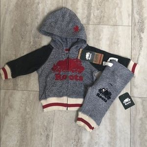 Roots baby 0-3 months sweat suite